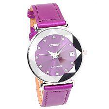 JOWISSA Armbanduhr facettiert Kristalle Swiss Made