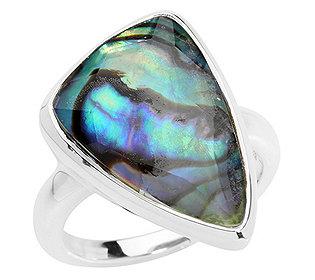 Ring Abalone-Bergkristall