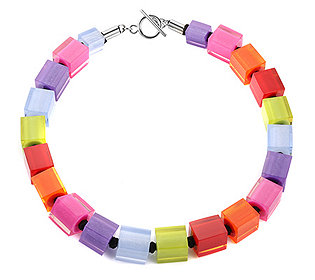 Collier Multicolor-Würfel