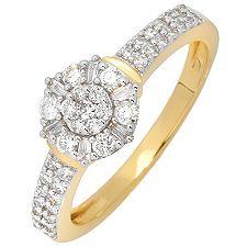 GLAMOUR DIAMONDS 47 Diamanten zus.ca.0,50ct. Ring Gold 585