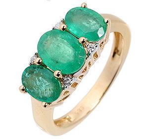 Ring 3 Smaragde