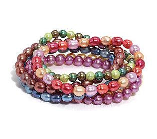 6 Armbänder Perlen