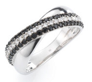 DIAMONIQUE® Ring = 0,70ct Brillantschliff Silber rhodiniert