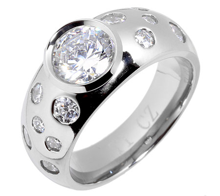 DIAMONIQUE TITAN 13 Steine =2,66ct. Ring poliert
