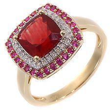 Tibetanit 1,70ct Tibet-Andesin Diamanten 0,14ct Entourage-Ring Gold 585