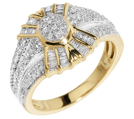 GLAMOUR DIAMONDS 76 Diamanten zus.ca.0,50ct. Weiß/P1 Ring, Gold 375