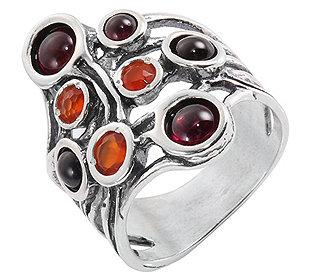 Ring 5 Granate 3 Karneole