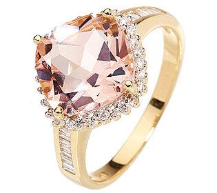 Ring Morganit Diamanten