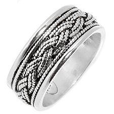 Osmanische Schmuckkunst Flecht-Optik Band-Ring Silber 925