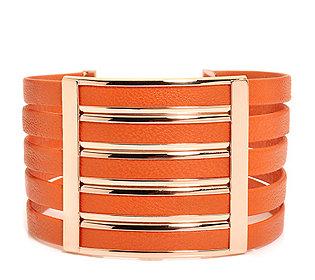 Armband Leder Bronze