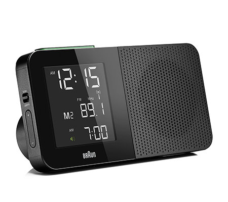 BRAUN Funk-Radiowecker Empfang weltweit LCD-Display Snooze-Funktion