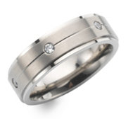 DIAMONIQUE® TITAN Eternityring = 0,18ct Brillantschliff