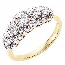 CANADIAN DIAMONDS 89 Brillanten zus.ca.0,50ct Ring Gold 750