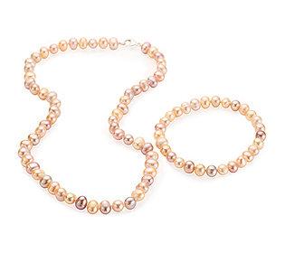 Perlenkette und Armband