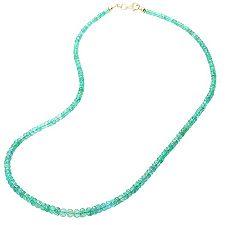 Sambia Smaragd 60,00ct Verlaufscollier ca. 47cm Gold 585