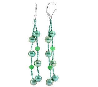 Ohrhänger Jade-Perlen