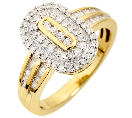 GLAMOUR DIAMONDS 82 Diamanten zus.ca. 0,50ct. Cocktail-Ring Gold 585