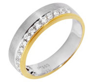 16 Brillanten Ring zus. ca. 0,34ct Weiß/SI Platin950/Gold750