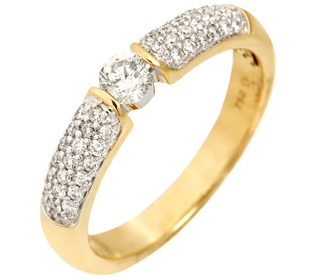 CANADIAN DIAMONDS 39 Brillanten zus.ca.0,50ct. feines Weiß/SI Ring, Gold 750