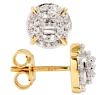 GLAMOUR DIAMONDS 44 Diamanten zus.ca.0,30ct. Ohrstecker Gold 585