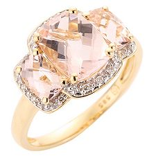 Morganit AAA/2,35ct 14 Brill.0,05ct Ring Gold 585