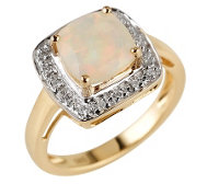Afrikanischer Opal 1,50ct Cocktailring Diamanten 0,09ct Gold 585