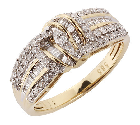 GLAMOUR DIAMONDS 95 Diamanten W/P1 zus.ca.0,50ct Ring Gold 585