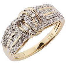 GLAMOUR DIAMONDS 95 Diamanten W/P1 zus.ca.0,50ct Ring Gold 585