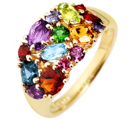 Multicolor Schliffmix 1,90ct. Cocktail-Ring Gold 585