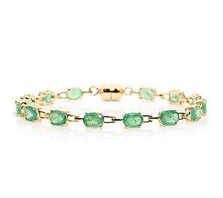Armband 14 Smaragde