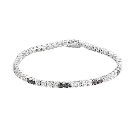 DIAMONIQUE® MYSTIC FIRE = 6,00ct Armband Silber rhodiniert