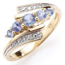 VIVA LAS VEGAS Saphire 0,45ct Diamanten 0,006ct Ring Gold 375