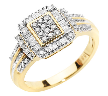 GLAMOUR DIAMONDS 76 Diamanten zus.ca.0,50ct. Weiß/P1 Ring, Gold 585