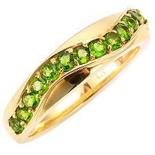 Russischer Chromdiopsid 0,52ct. Ring Gold 375