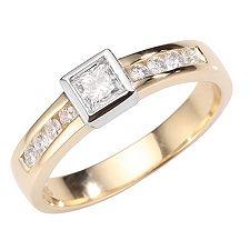 ANTWERPEN Schliffmix W-SI,zus.ca.0,43ct. Ring Gold 585