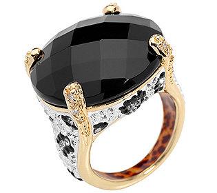 Ring Onyx Zirkonia