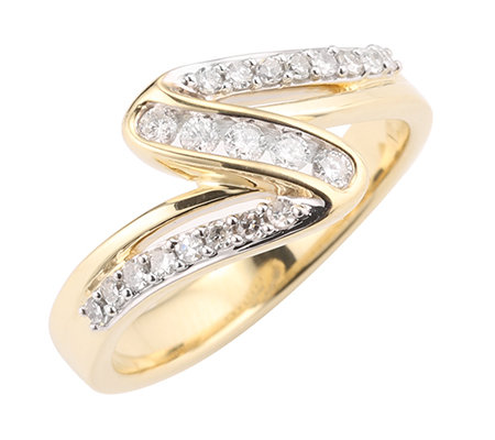 21 Diamanten zus.ca.0,25ct Weiß/P1 Ring Gold 375