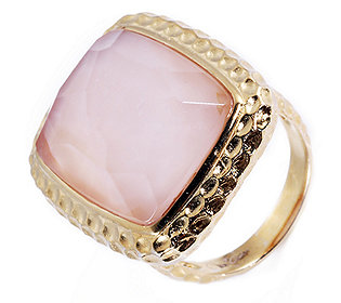 Ring Perlmutt-Doublette