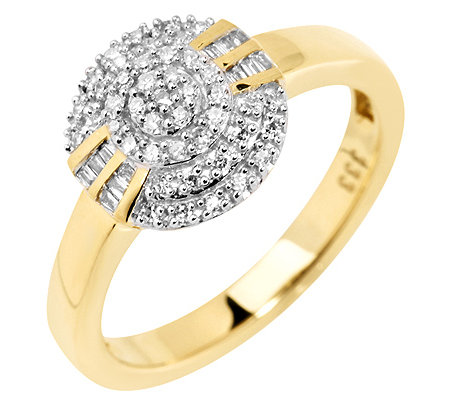 GLAMOUR DIAMONDS 56 Diamanten zus.ca.0,20ct. Weiß/P1 Ring, Gold 333