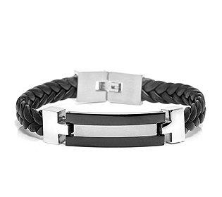 Armband Leder Edelstahl