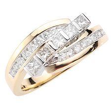 ANTWERPEN Schliffmix W-SI, zus.ca.0,75ct. Ring Gold 585
