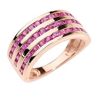Ring 42 pinke Saphire