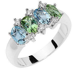 Ring Turmaline Aquamarin