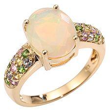 VIVA LAS VEGAS Opal 1,47ct. Saphire 0,43ct. Ring Gold 375