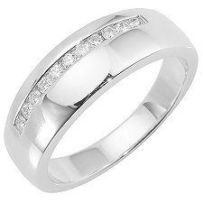SILVER LINE 11 Brillanten zus.ca.0,15ct Ring Silber 925