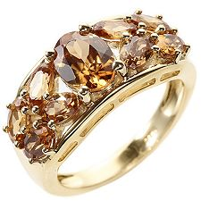 Natur Zircon 3,78ct oval, facettiert Cocktail-Ring Gold 375