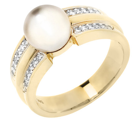 AKOYA Zuchtperle 24 Brill.0,25ct Ring Gold 585