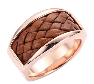 Ring Bronze Leder