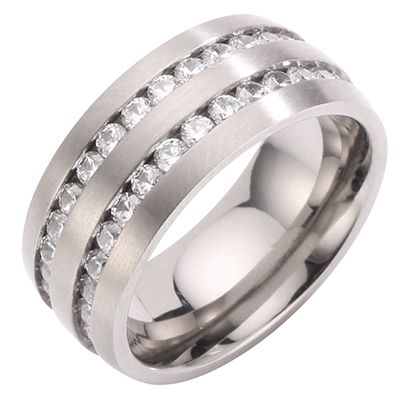 DIAMONIQUE® TITAN = min.1,80ct Eternity-Ring mattiert