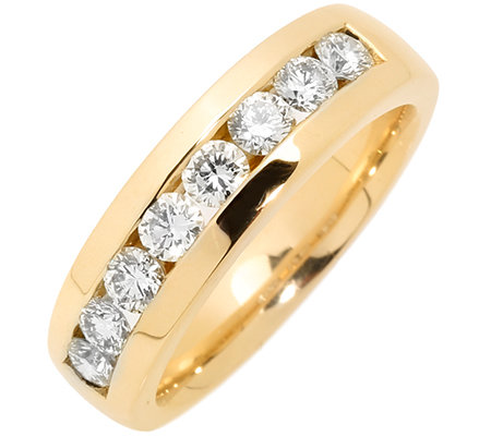 8 Brillanten zus.ca.1,00ct g.Weiß/lupenrein Memoire-Ring Gold 585
